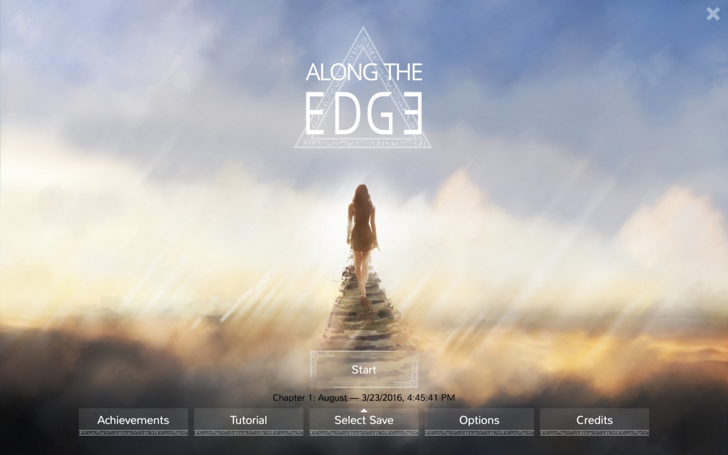 Along the Edge - Screenshot Title-Screen